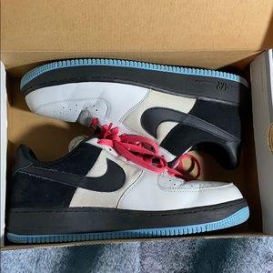 Nike Air Forces Grey/Black/Blue/Pink